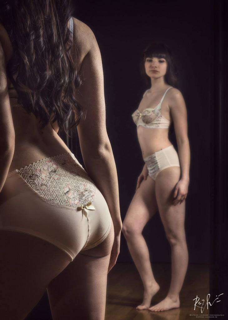 Ensemble lingerie écru